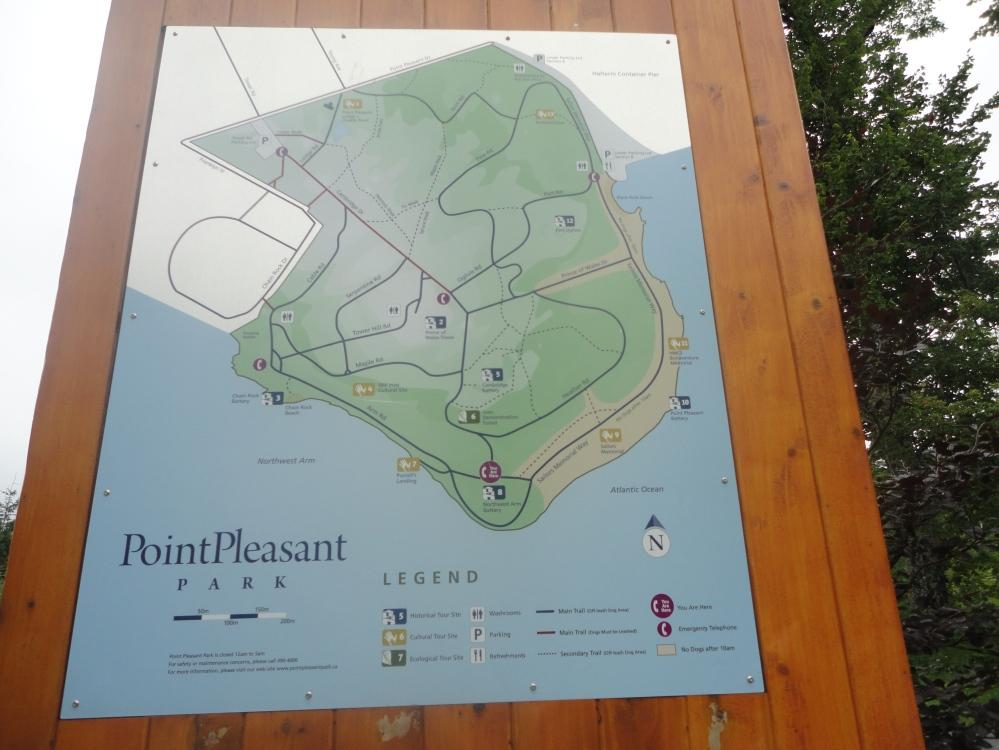 Point Pleasant Park Map