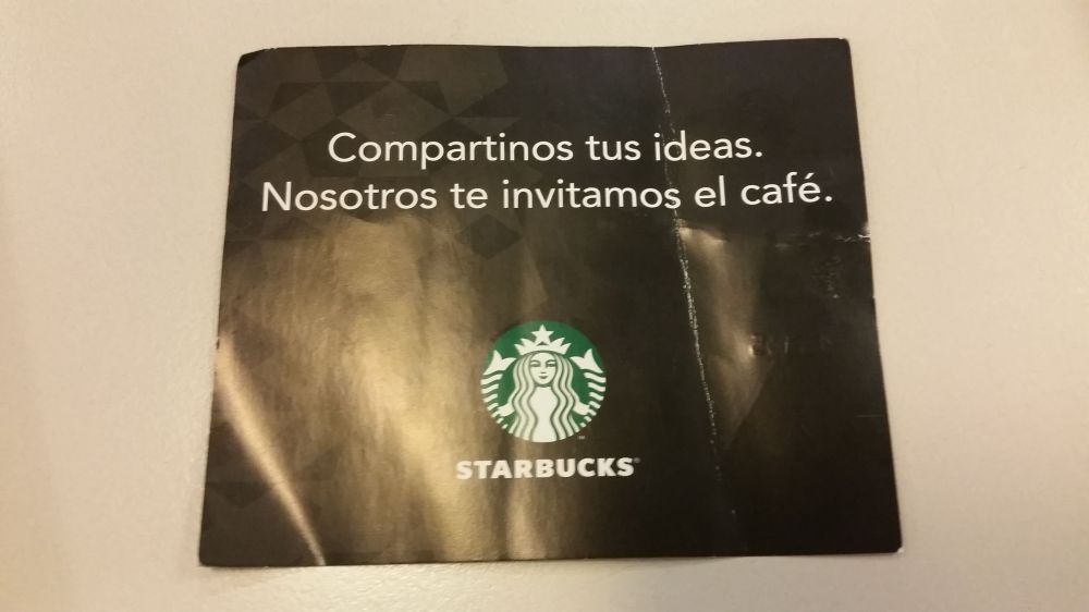 Starubucks Folleto