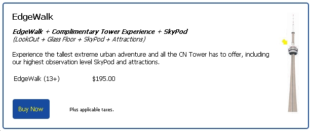 CN Tower Tickets EdgeWalk