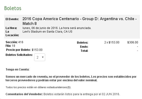 Copa America Centenario Compra