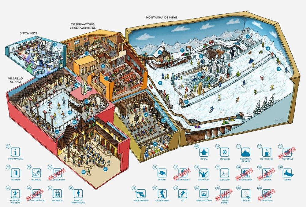 Snowland Mapa