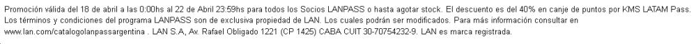 LATAM Club Personal Letra Chica