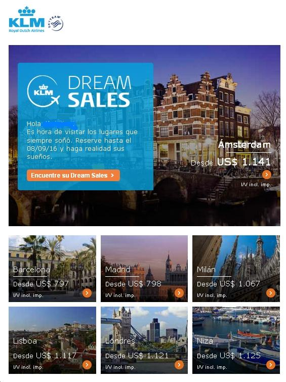KLM Europa Dream Sales
