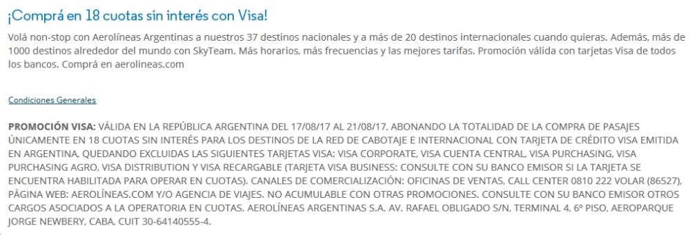 AR Visa Condiciones
